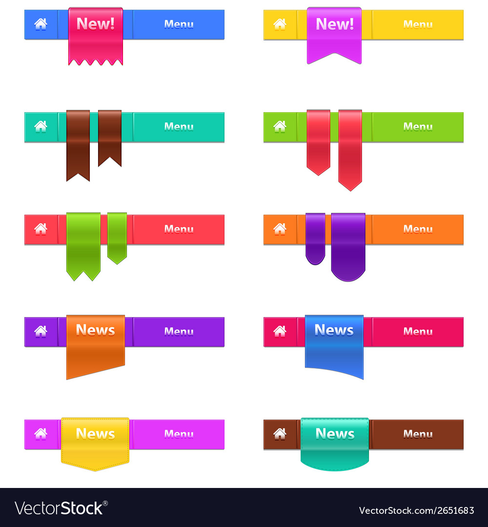 Set of web elements isolated on white vector | Price: 1 Credit (USD $1)