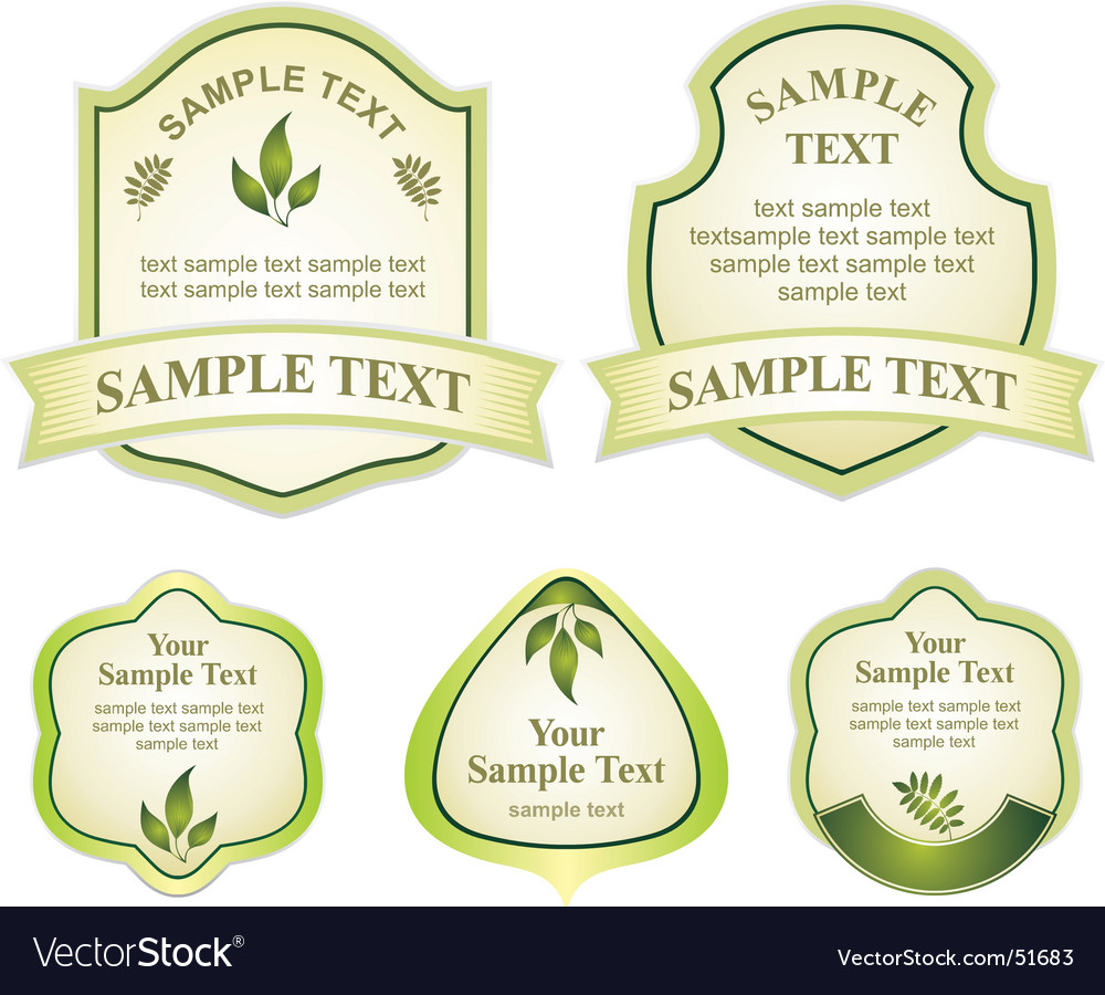 Various labels graphic vector | Price: 1 Credit (USD $1)