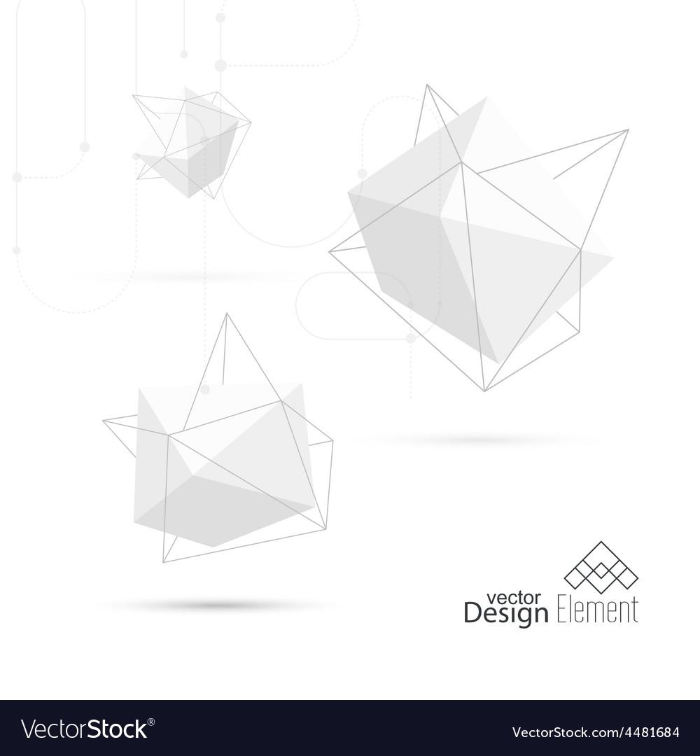 Abstract polygonal geometric shape vector   Price: 1 Credit (USD $1)
