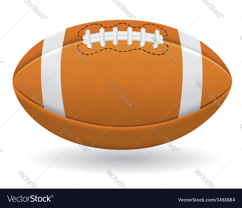 Ball for american football vector | Price: 1 Credit (USD $1)