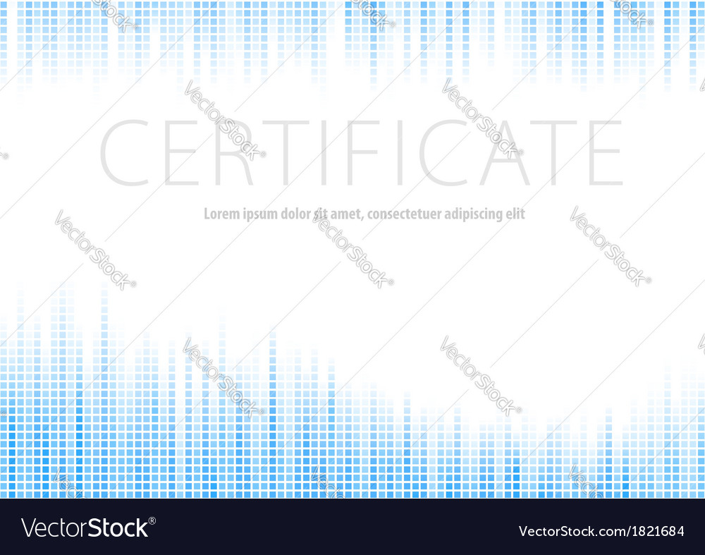 Certificate - blue halftone background vector | Price: 1 Credit (USD $1)