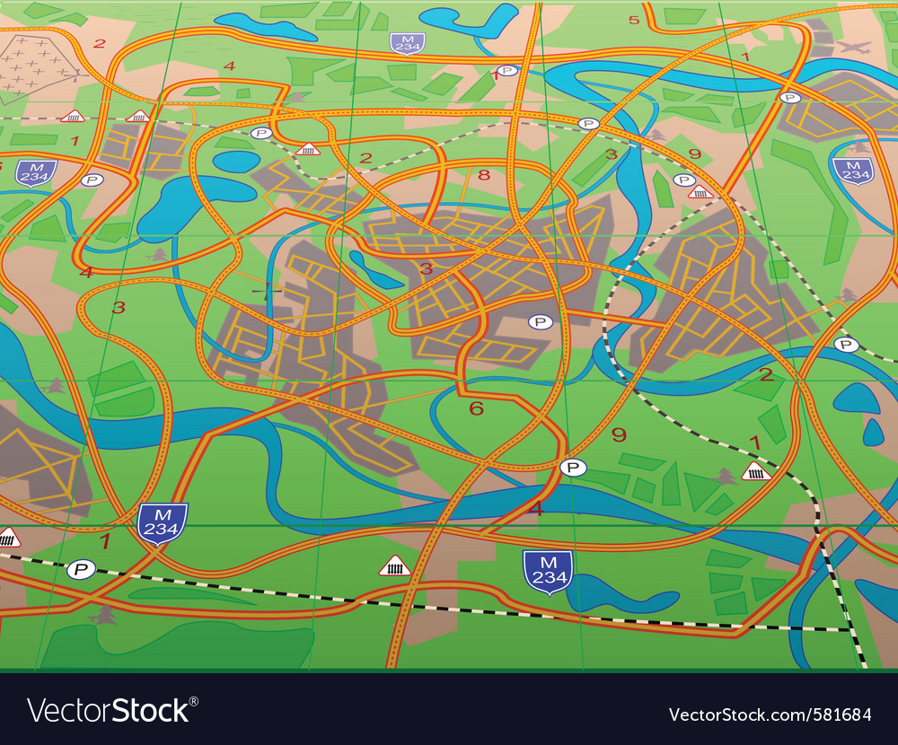 Geographical map vector | Price: 1 Credit (USD $1)