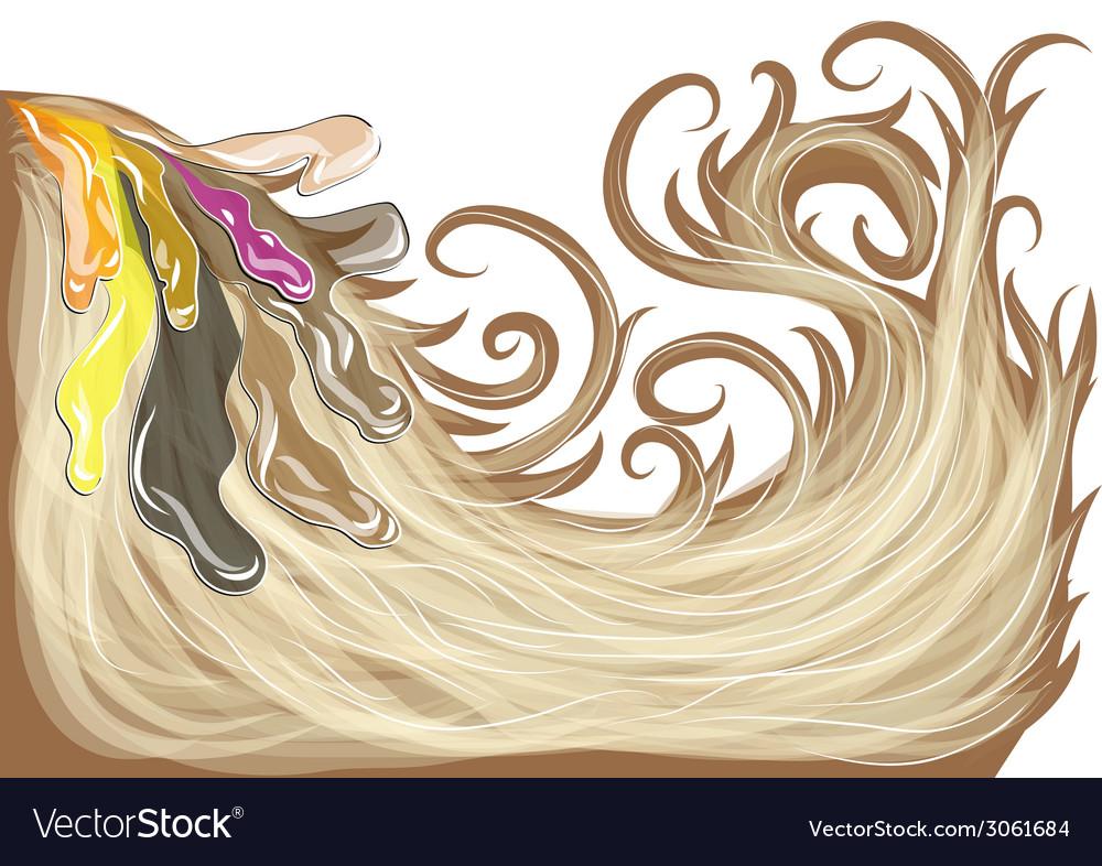 Hair dye vector | Price: 1 Credit (USD $1)