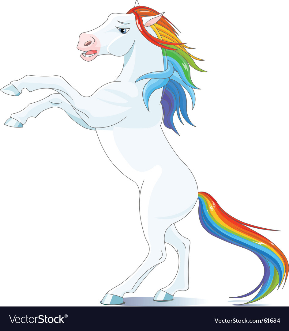 Rainbow horse vector | Price: 1 Credit (USD $1)