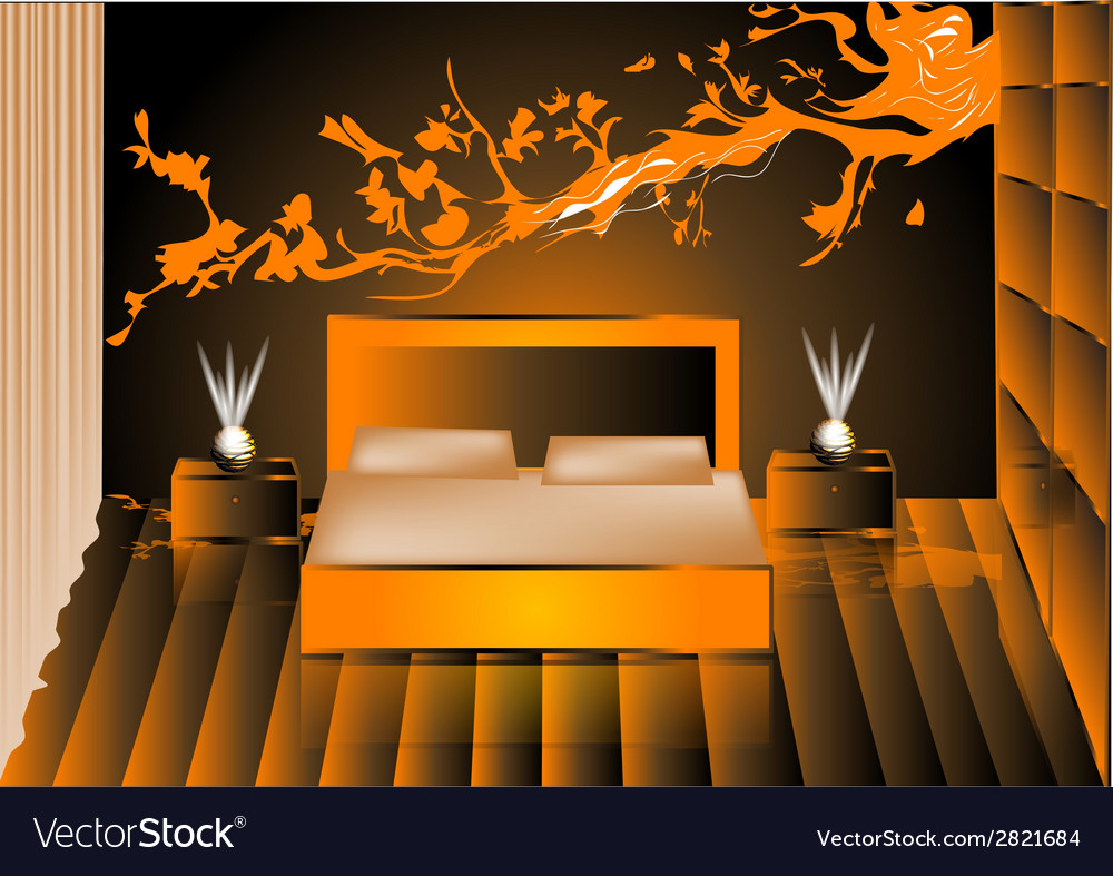 Render night bedroom vector | Price: 1 Credit (USD $1)
