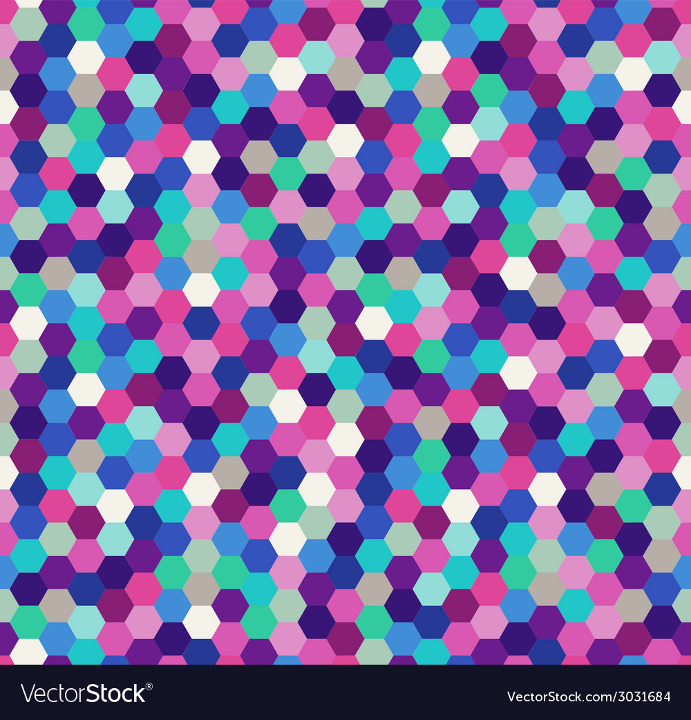 Seamless hexagonal pattern vector | Price: 1 Credit (USD $1)
