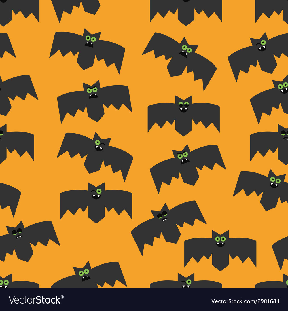 Seamless pattern of bats vector | Price: 1 Credit (USD $1)