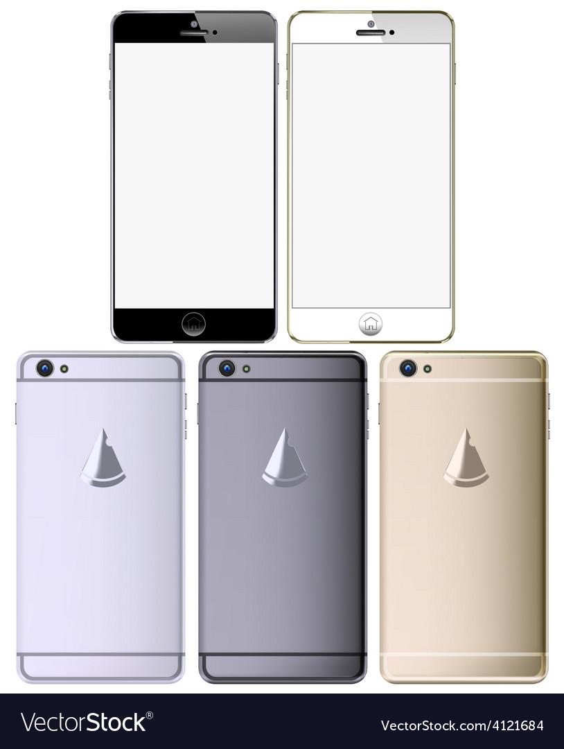Smart phone set vector | Price: 1 Credit (USD $1)