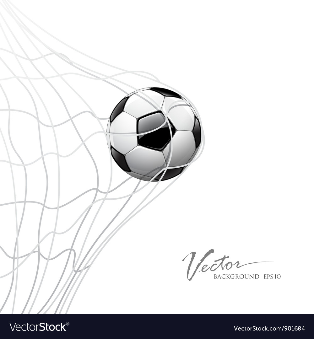 Soccer ball in net vector | Price: 3 Credit (USD $3)