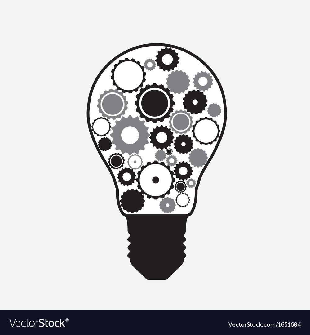 Technology abstract background with a light bulb vector | Price: 1 Credit (USD $1)