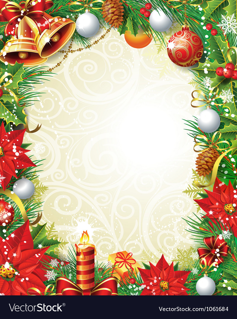 Vintage christmas background vector | Price: 3 Credit (USD $3)