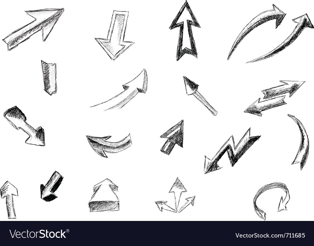 Arrows isolated on the white vector | Price: 1 Credit (USD $1)