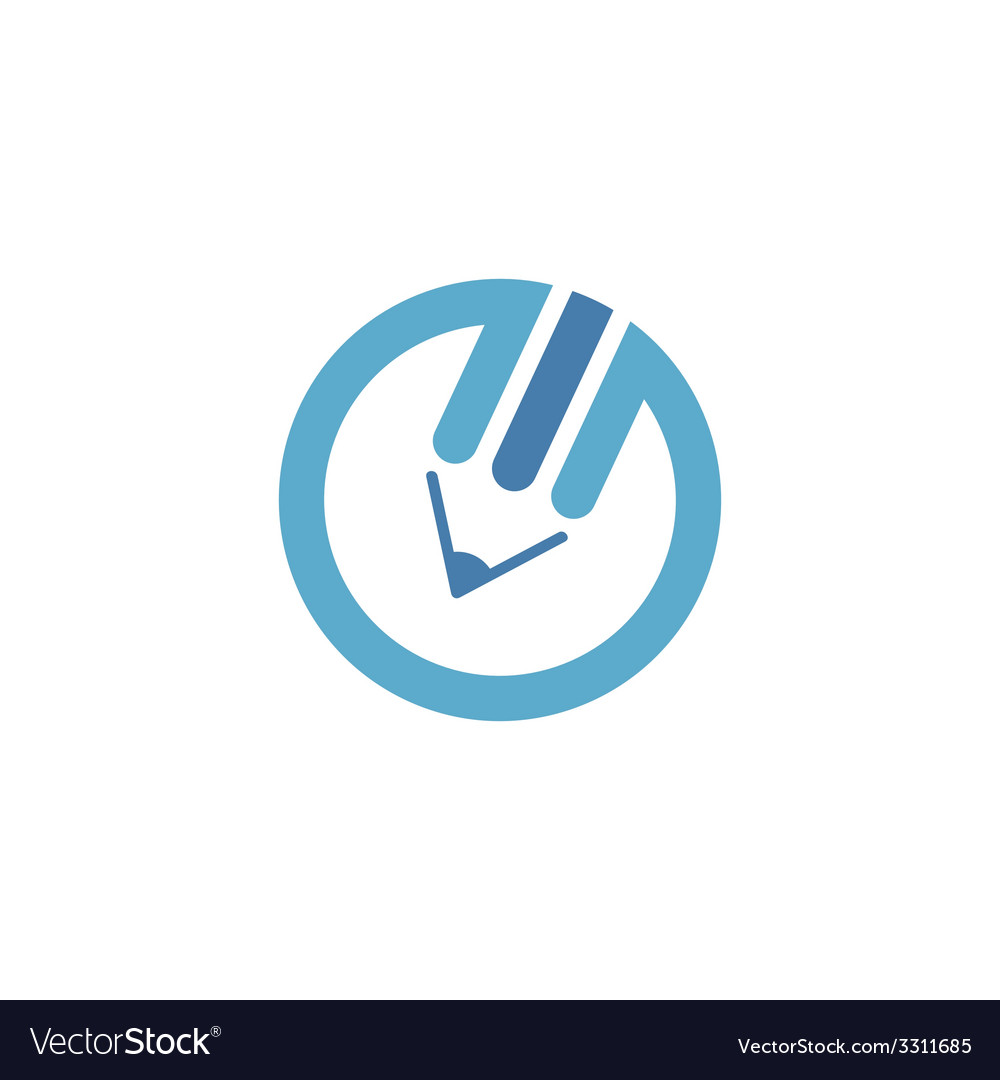 Blue pencil logo vector