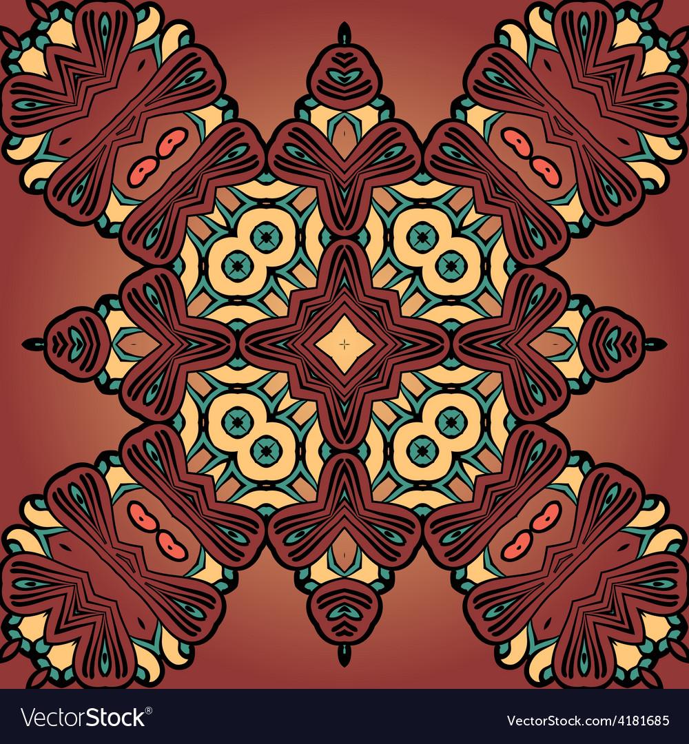 Brown four corner seamless tile vector | Price: 1 Credit (USD $1)
