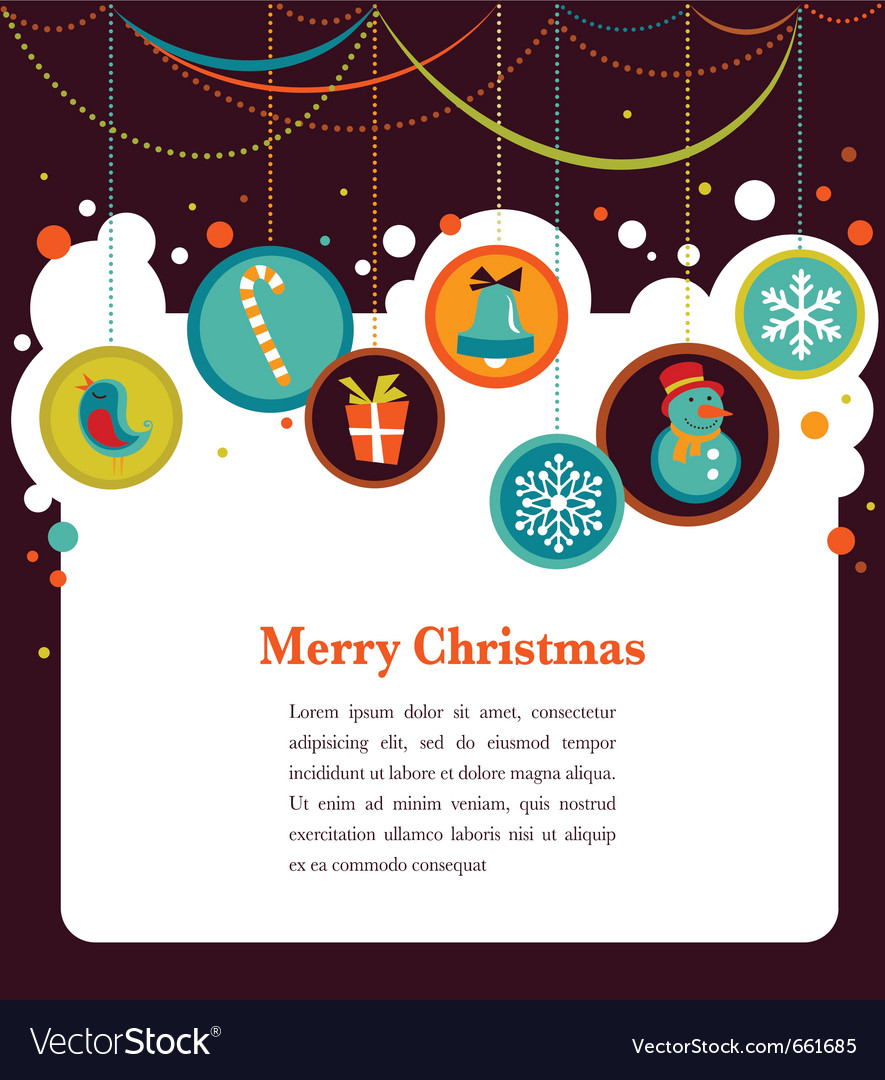 Christmas background with cute icons vector | Price: 1 Credit (USD $1)