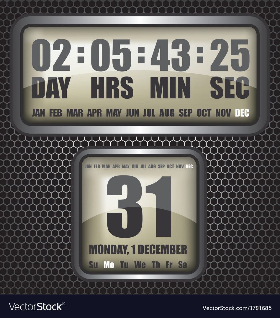 Countdown timer on octagon background vector | Price: 1 Credit (USD $1)