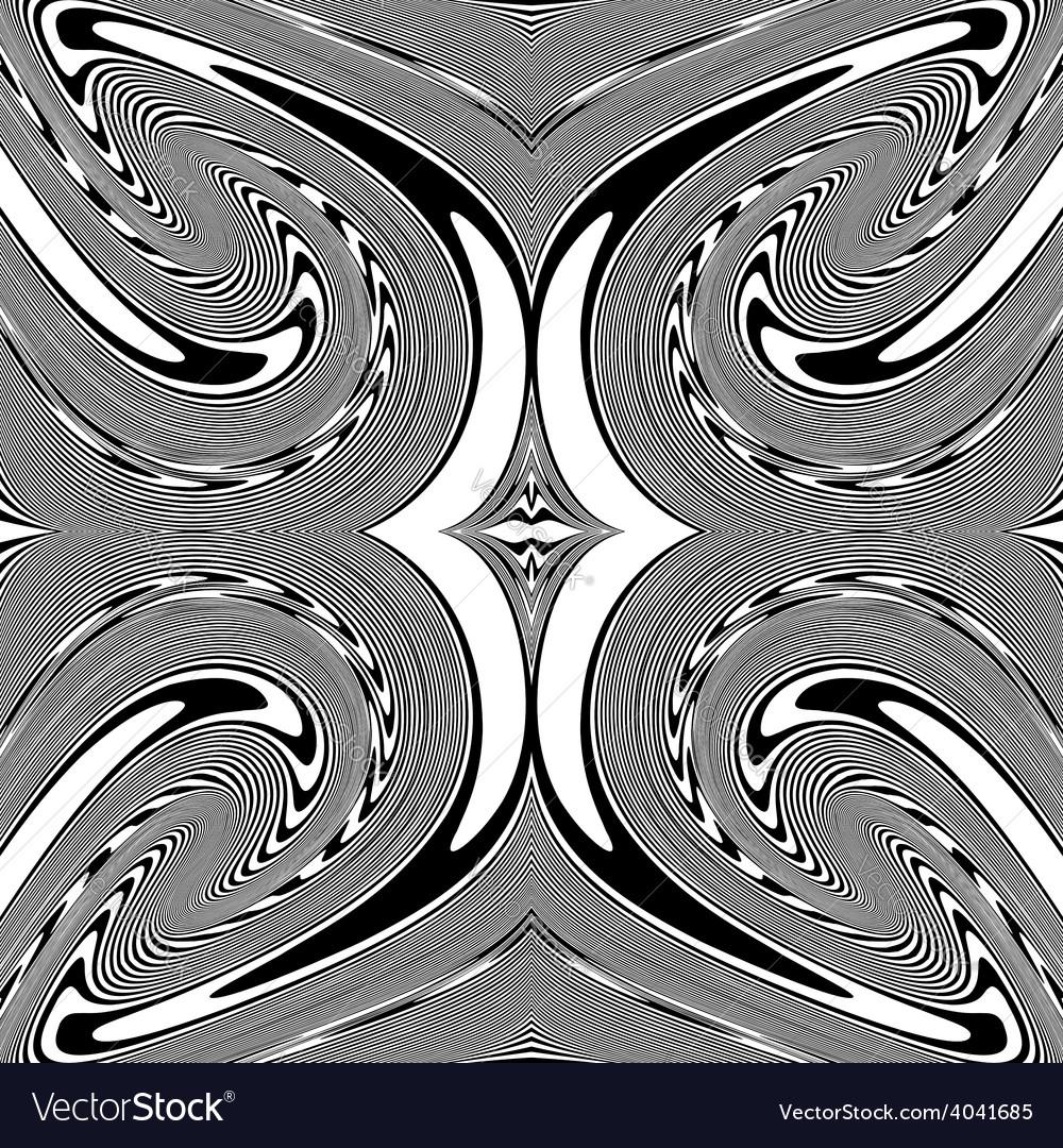 Design monochrome spiral movement background vector | Price: 1 Credit (USD $1)