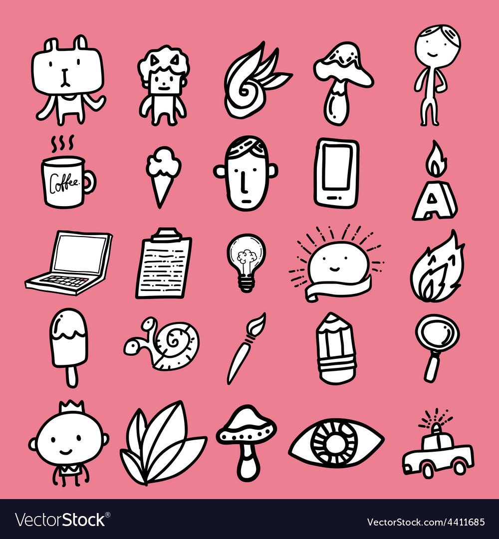 Doodle cartoon icon design vector | Price: 1 Credit (USD $1)