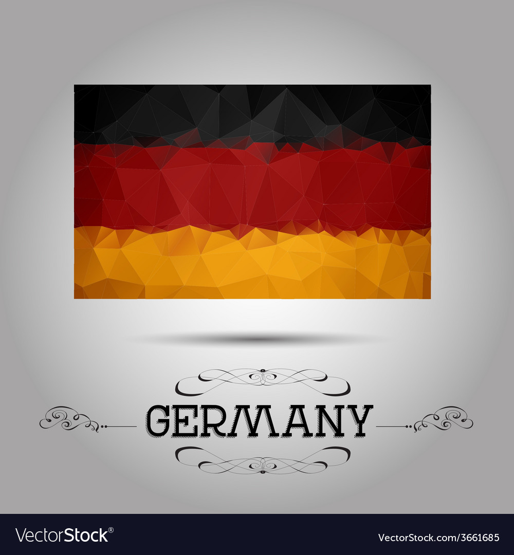 Geometric polygonal germany flag vector | Price: 1 Credit (USD $1)