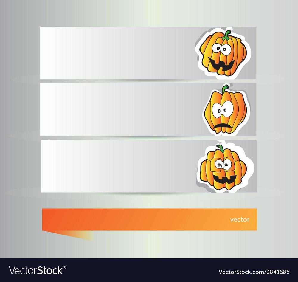 Happy halloween banners vector | Price: 1 Credit (USD $1)