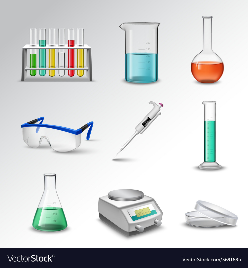 Laboratory equipment icons vector | Price: 3 Credit (USD $3)