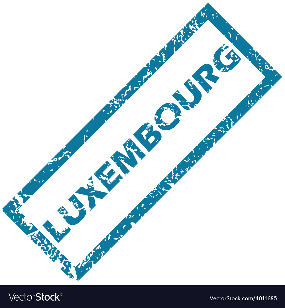 Luxembourg rubber stamp vector | Price: 1 Credit (USD $1)