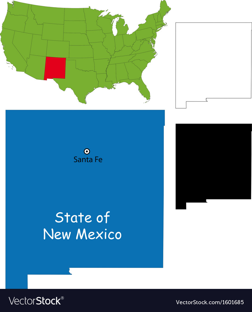 New mexico map vector | Price: 1 Credit (USD $1)