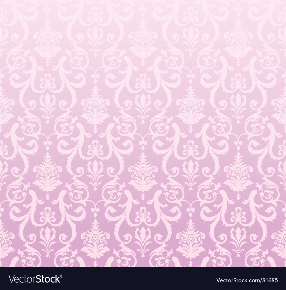 Pink wallpaper pattern vector | Price: 1 Credit (USD $1)