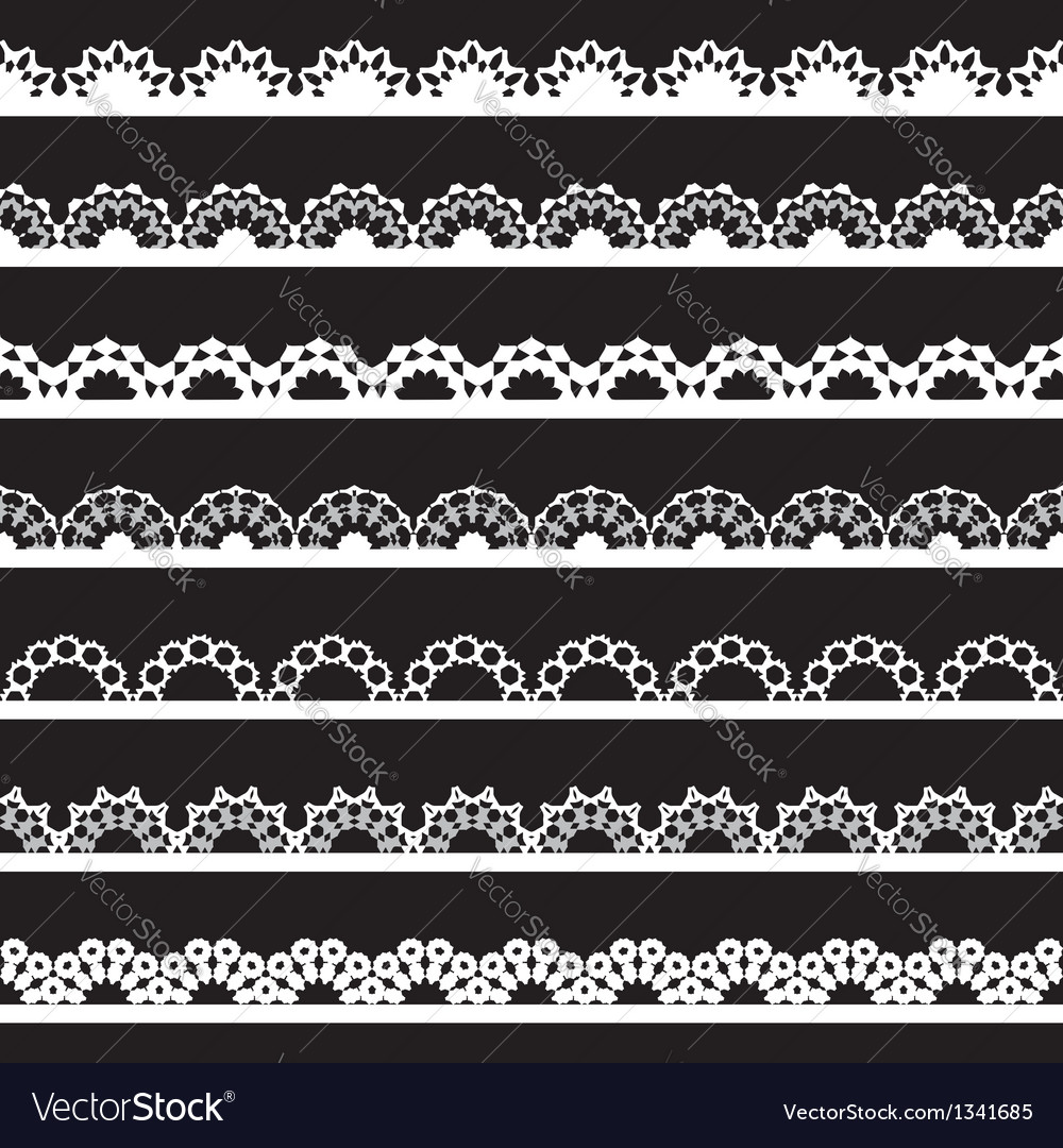 Seamless lace border vector | Price: 1 Credit (USD $1)