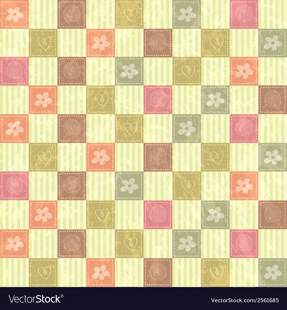 Seamless pattern background with flowers vector | Price: 1 Credit (USD $1)
