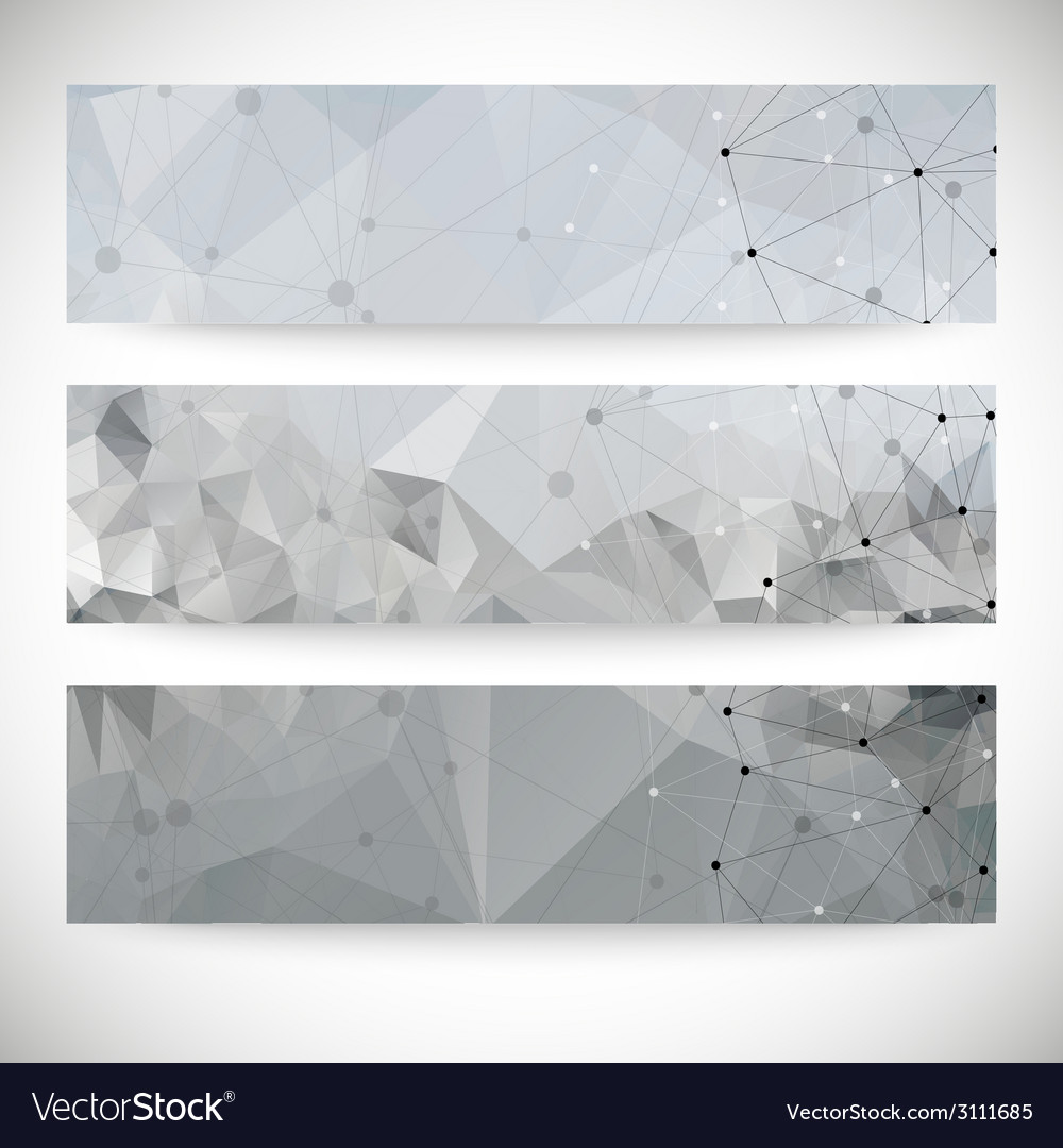 Set of abstract backgrounds molecule structure vector   Price: 1 Credit (USD $1)