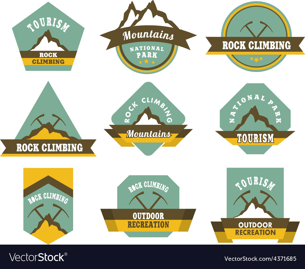 Tourism badges vector | Price: 3 Credit (USD $3)