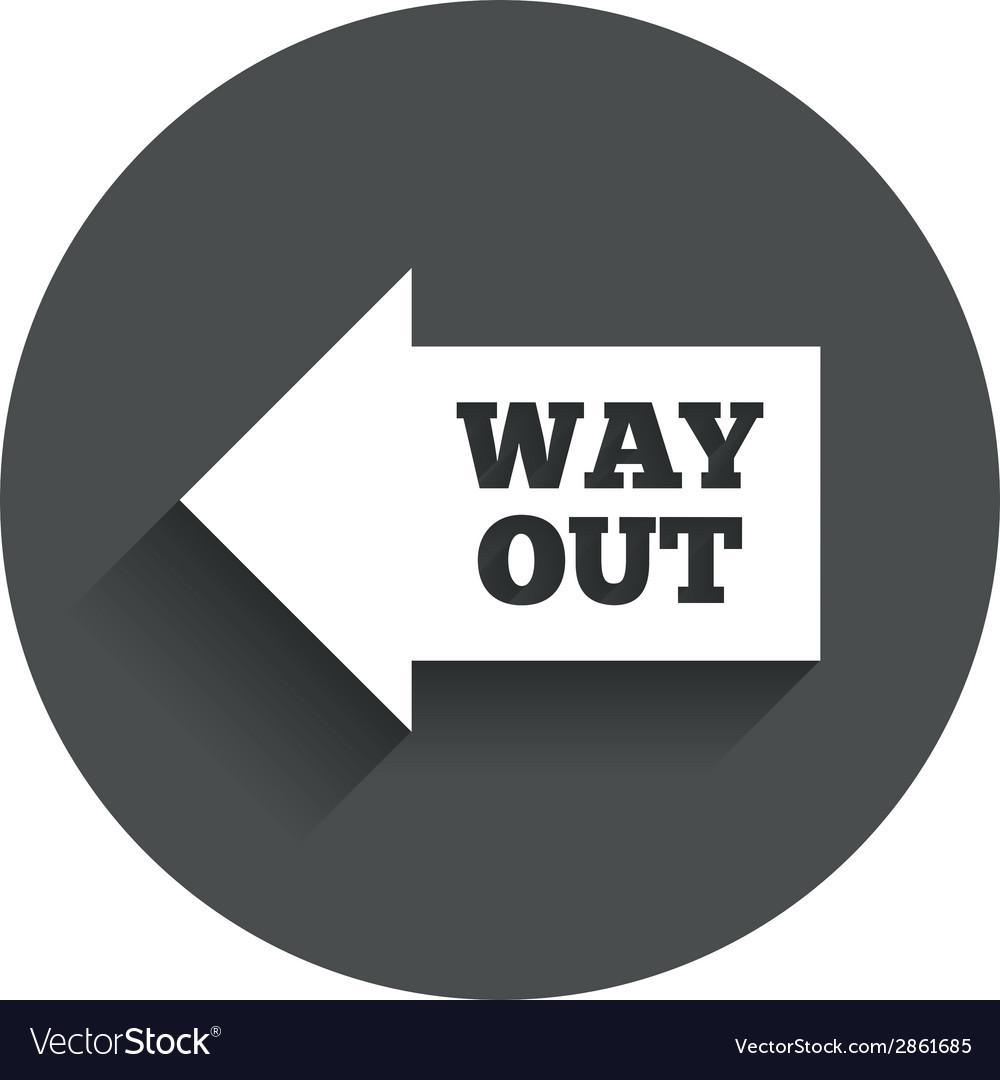 Way out left sign icon arrow symbol vector | Price: 1 Credit (USD $1)