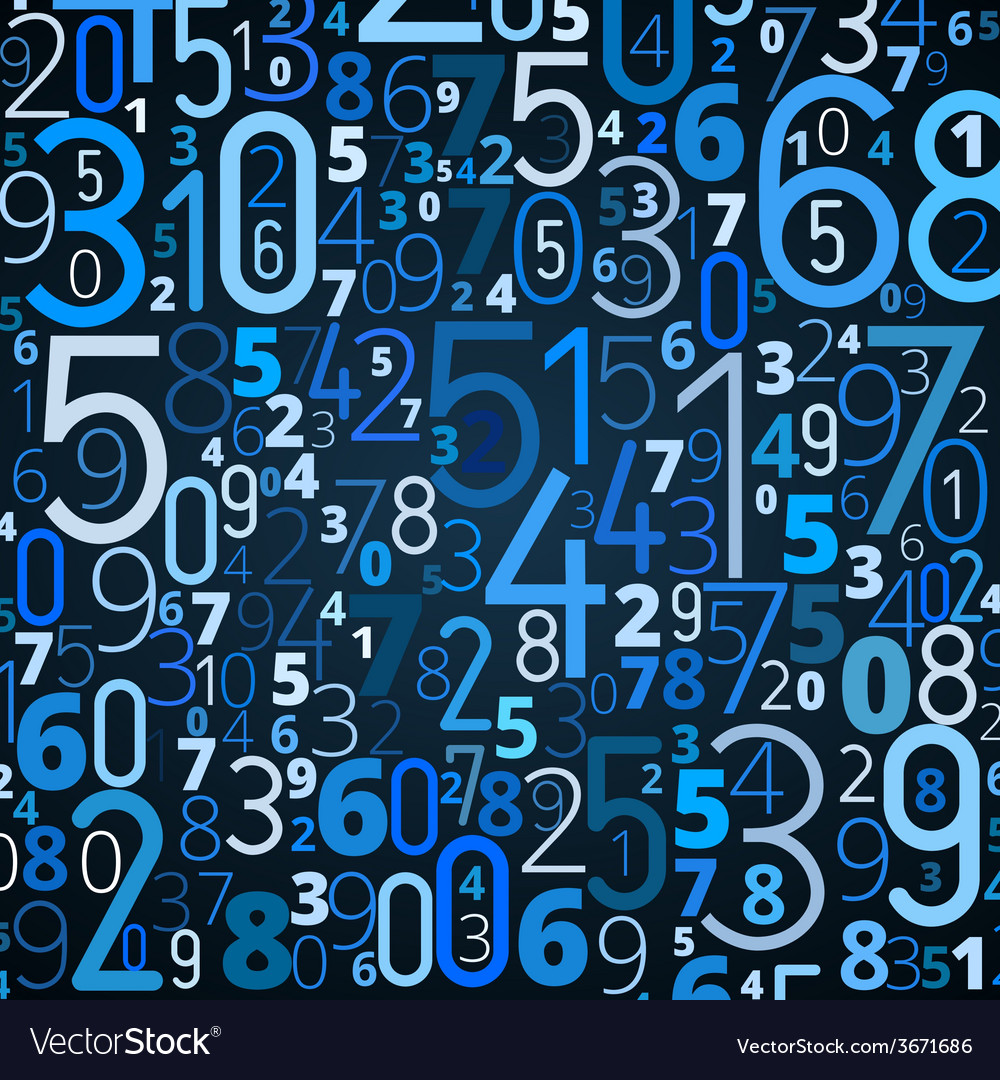Background from numbers vector | Price: 1 Credit (USD $1)
