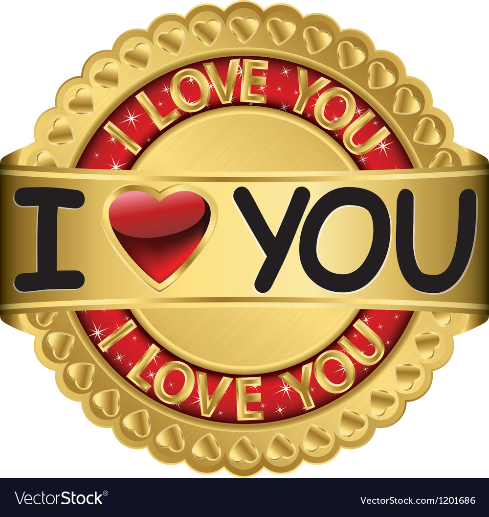 Happy valentines day i love you vector | Price: 1 Credit (USD $1)