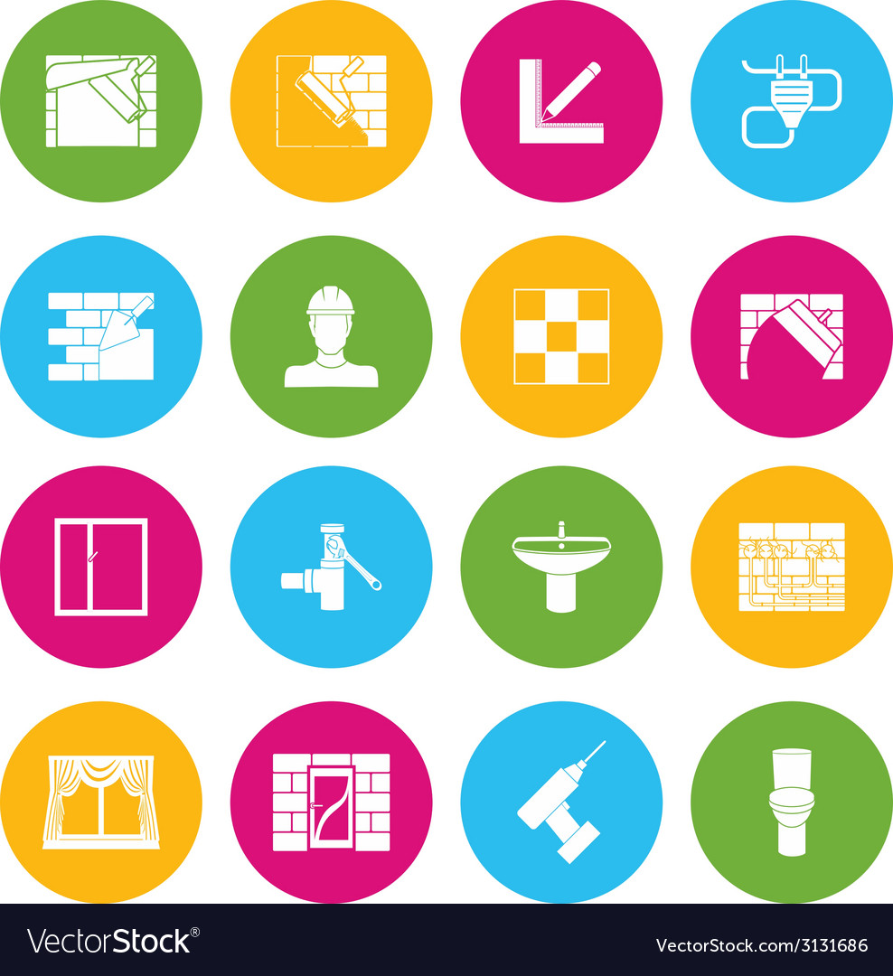 Home repair icons vector | Price: 1 Credit (USD $1)
