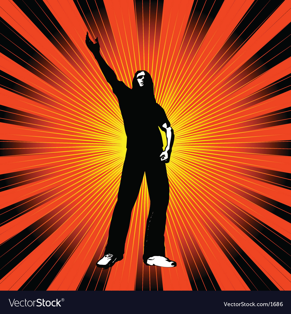 Man with arm raised vector | Price: 1 Credit (USD $1)