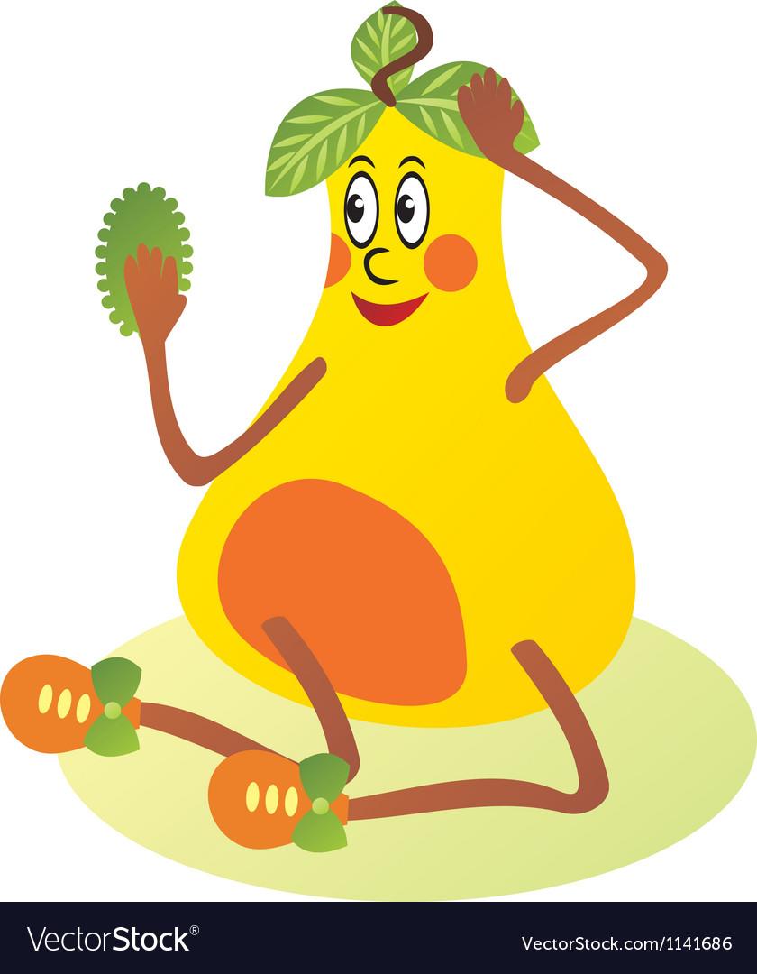 Pear cartoon vector | Price: 1 Credit (USD $1)