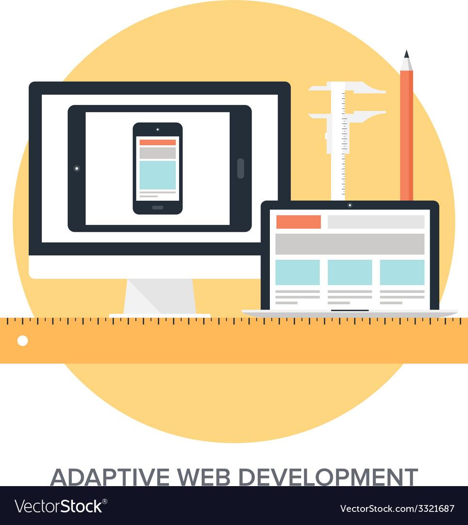 Adaptive web design vector | Price: 1 Credit (USD $1)