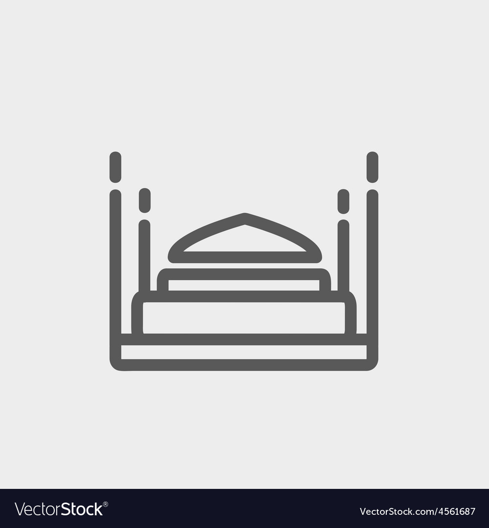 Bed thin line icon vector | Price: 1 Credit (USD $1)