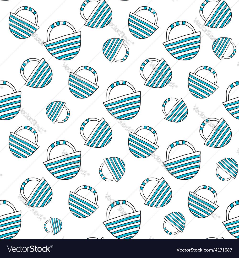 Blue travel bag seamless vector | Price: 1 Credit (USD $1)