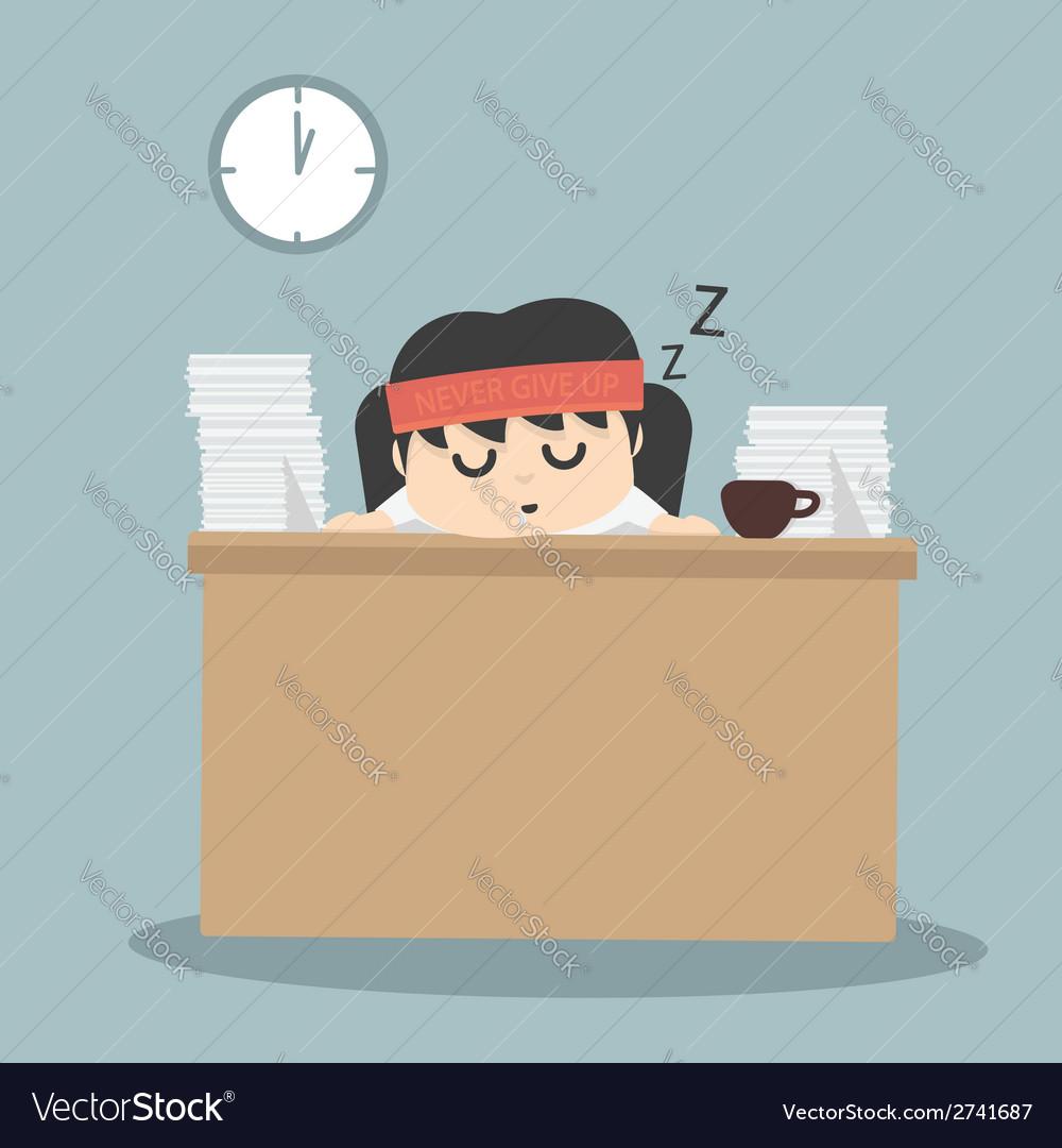Businessman falling asleep vector | Price: 1 Credit (USD $1)