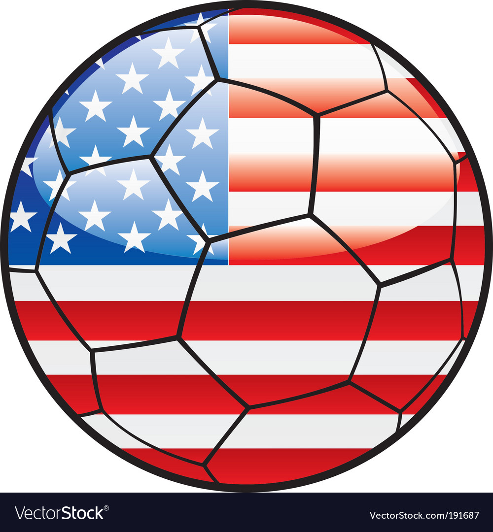 Flag of america on soccer ball vector | Price: 1 Credit (USD $1)