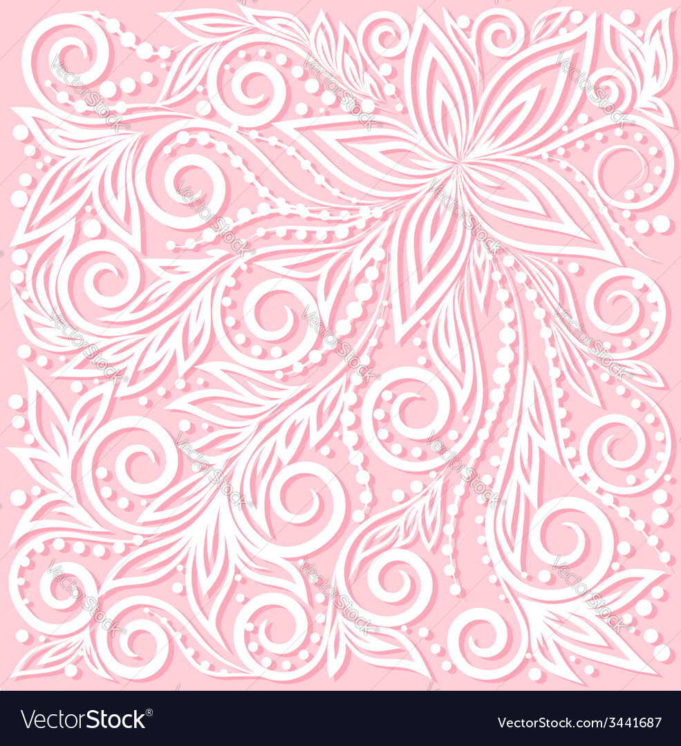 Floral pattern a design element in wedding style vector | Price: 1 Credit (USD $1)