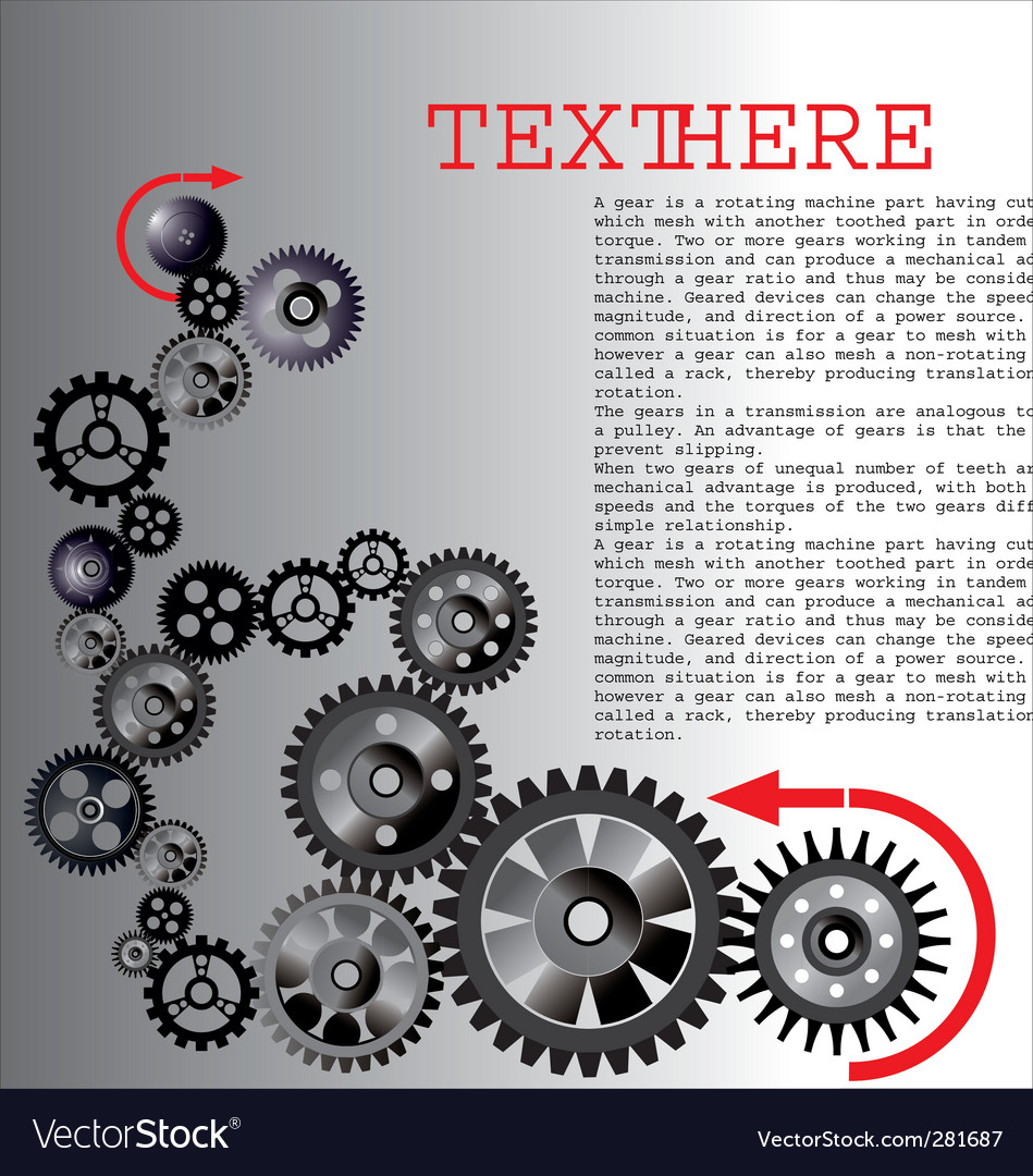 Gears background vector   Price: 1 Credit (USD $1)