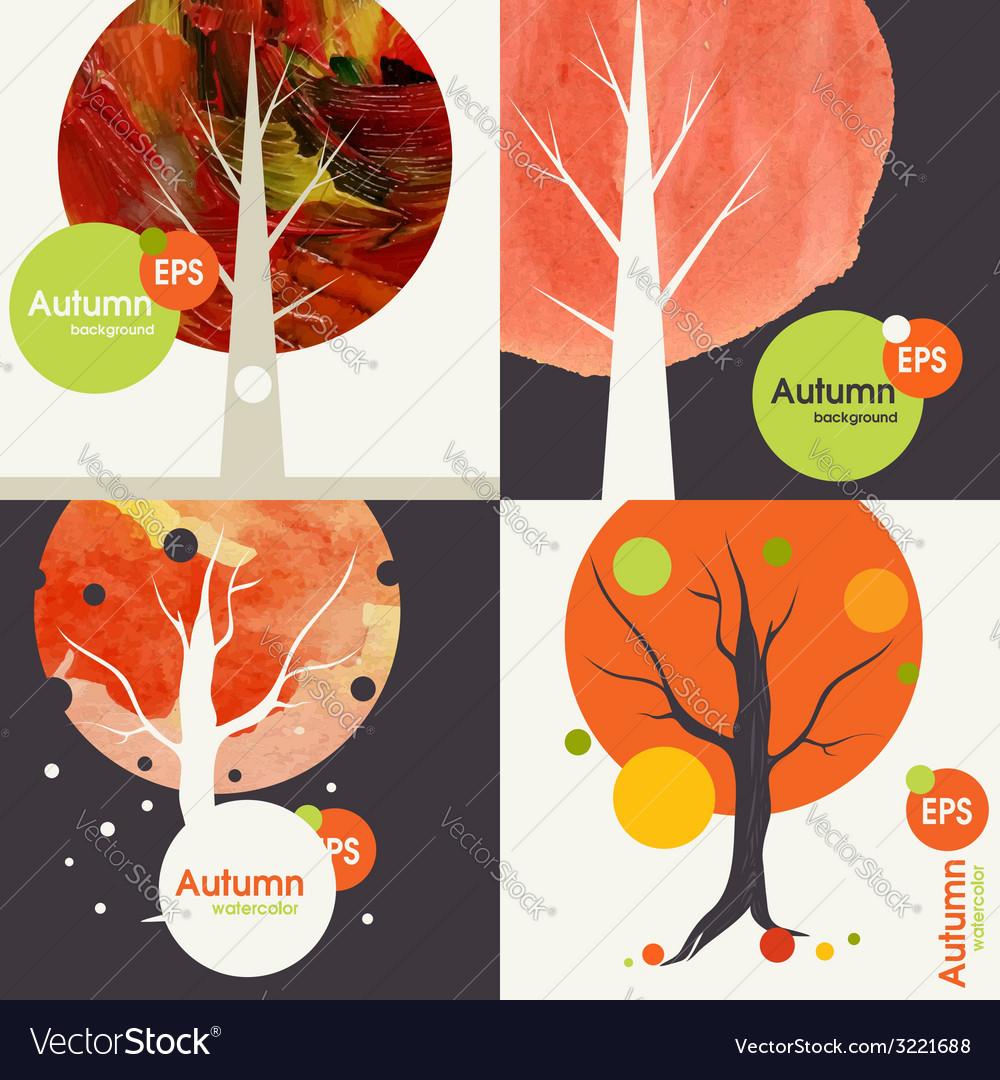 Autumnal background set vector   Price: 1 Credit (USD $1)
