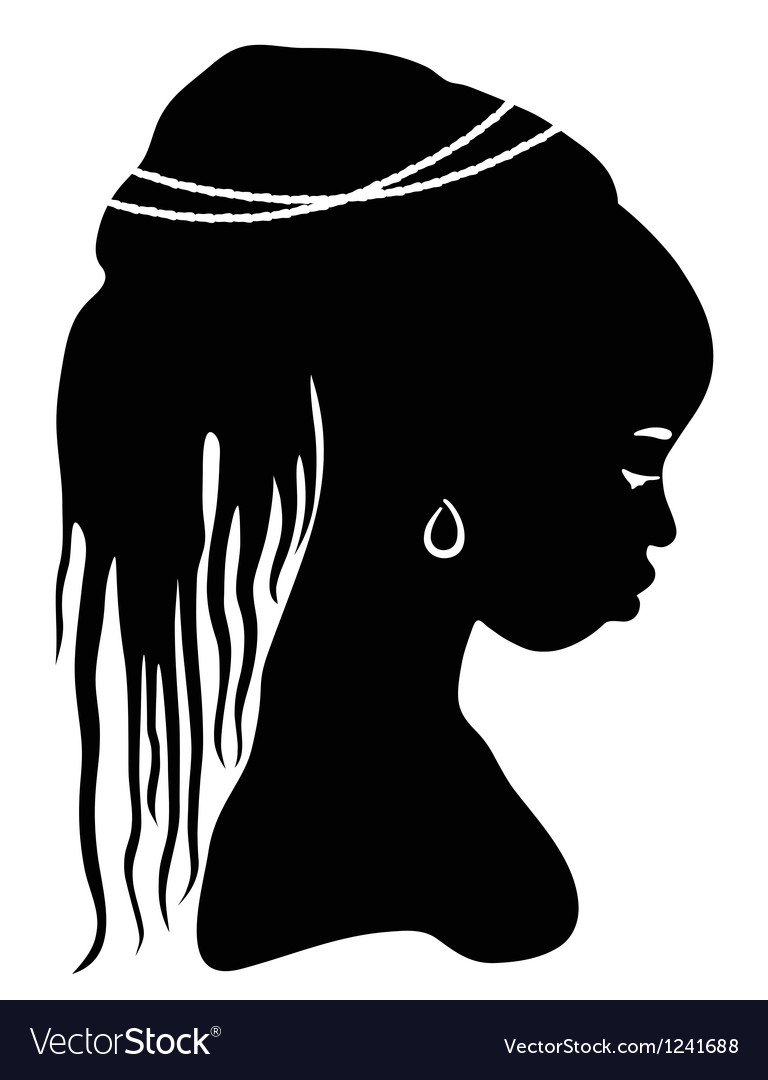 Black silhouette african woman vector | Price: 1 Credit (USD $1)