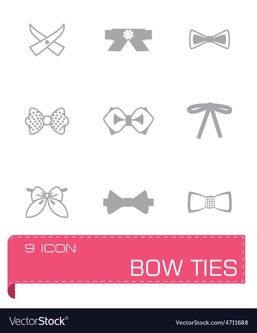 Bow ties icon set vector   Price: 1 Credit (USD $1)