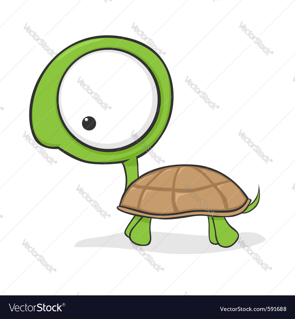 Cartoon turtle vector | Price: 1 Credit (USD $1)