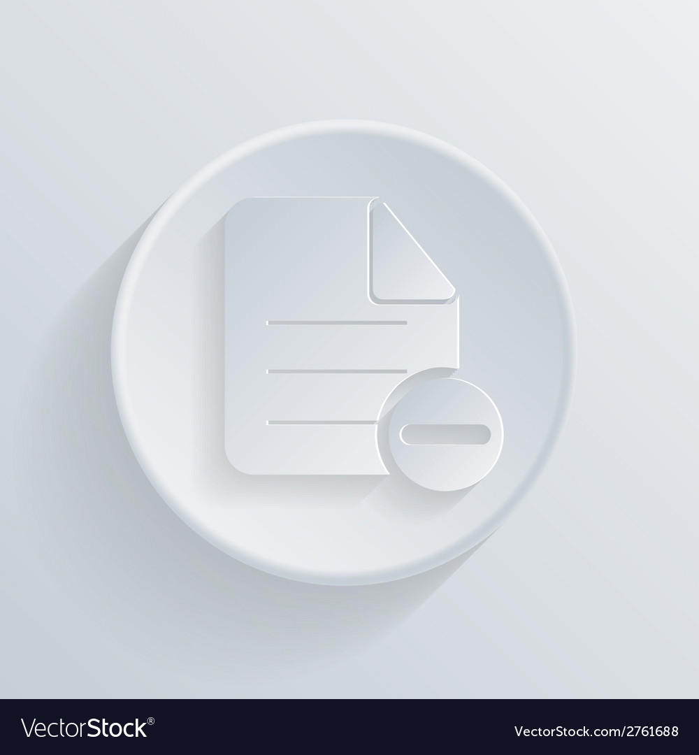 Circle icon with a shadow page of the document vector | Price: 1 Credit (USD $1)